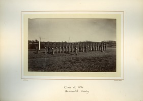First page of Class of 1876, unmounted cavalry, Massachusetts Agricultural College