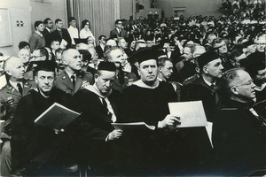 First page of Crowd at Charter Day convocation
