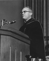 First page of President John W. Lederle speaking at the Centennial Honors Day convocation