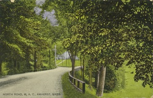 First page of North Road, M.A.C., Amherst, Mass.