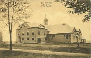 First page of The  Drill Hall, M.A.C., Amherst, Mass.