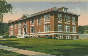 First page of French Hall, M.A.C., Amherst, Mass.