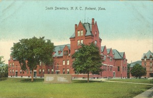 First page of South Dormitory, M.A.C., Amherst, Mass.