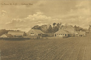 First page of The  barns, M.A.C., Amherst, Mass.