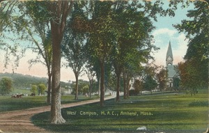 First page of West campus, M.A.C., Amherst, Mass.