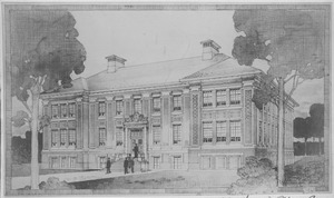 First page of Fernald Hall [architect's sketch]