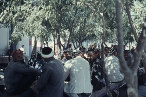 Thumbnail of Group of men under trees