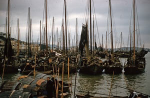 Thumbnail of Boats and skiffs in Macau harbor