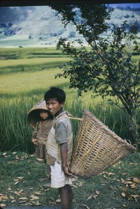 Thumbnail of Village children with baskets