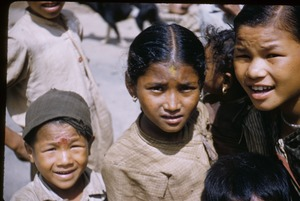 Thumbnail of Faces of village children
