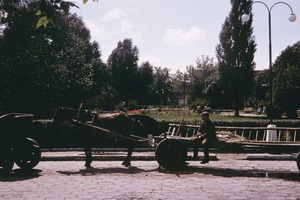 Thumbnail of Man sitting on long wagon