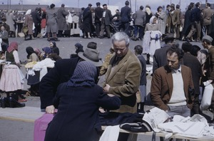 Thumbnail of Buying clothing at Belgrade market