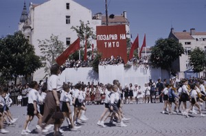 Thumbnail of School children at Tito's birthday parade