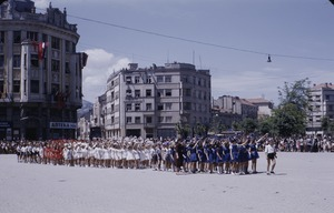 Thumbnail of Schoolgirls at national celebration in Skopje