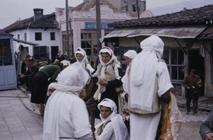 Thumbnail of Peasant women selling at Skopje market