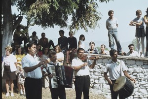 Thumbnail of Gypsy orchestra plays after Trnovo celebration