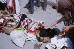 Thumbnail of Orthodox costume parts at Ohrid market