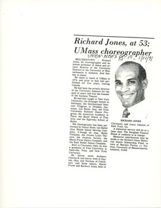 Thumbnail of Richard Jones, at 53; UMass choreographer
