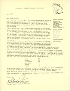 Thumbnail of Circular letter from AmDans Theatre