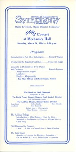 Thumbnail of Pops concert at Mechanics Hall program