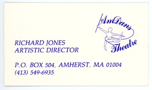 Thumbnail of Richard Jones, Artistic Director, AmDans Theatre business card