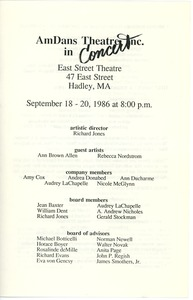 Thumbnail of AmDans Theatre, Inc. in concert program