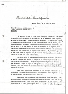 Thumbnail of Letter from Alejandro A. Lanusse to Antonio and Pedro Lanusse