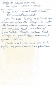 Thumbnail of Bartolomé Gallo oral history with Robert A. Potash: transcripts and notes