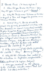 Thumbnail of Julio César Gancedo oral history with Robert A. Potash: transcripts and notes
