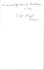 Thumbnail of Miguel Iñíguez oral history with Robert A. Potash: questions and transcript