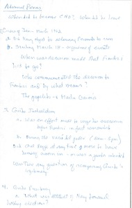 Thumbnail of Agustín Penas oral history with Robert A. Potash: questions and notes