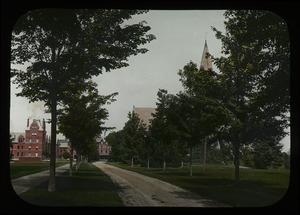 Thumbnail of MAC college campus looking east past Old Chapel and South College