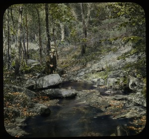Thumbnail of Orient Brook (man fishing in the woods)