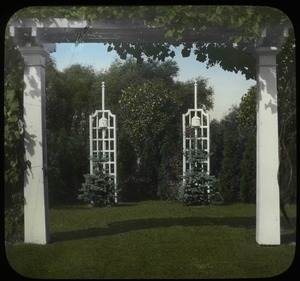 Thumbnail of Garden with pergola and trellises