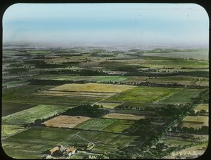 Thumbnail of Landing Field, Madison, Wis. (aerial view of patchwork farmland)