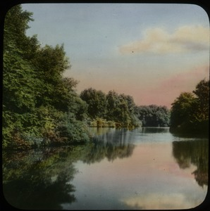 Thumbnail of The  Lake, Graceland Cemetery, designed by O.C. Simonds