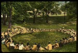 Thumbnail of Minneapolis parks (Campfire Girls gathered in a circle)