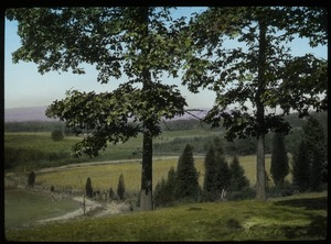 Thumbnail of Vista over fields and country road