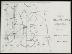 Thumbnail of A  system of pleasure drives about Amherst (map)