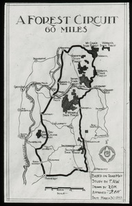 Thumbnail of A forest circuit 60 miles, study by Waugh (map)