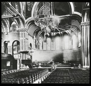 Thumbnail of Interior of unidentified church, looking toward altar