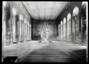 Thumbnail of Interior of grand hall with paintings