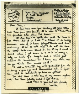 Thumbnail of Letter from Maida Riggs to Joan Campbell