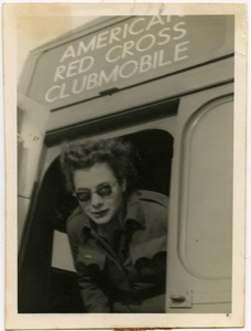Thumbnail of Jean M. Overturf in an American Red Cross Clubmobile