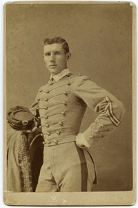 Thumbnail of Three quarter-length studio portrait of Walter M. Dickinson in West Point             cadet's uniform