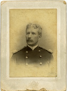 Thumbnail of Studio portrait, bust, of Walter M. Dickinson in army uniform