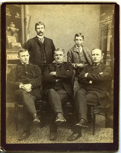 Thumbnail of Group portrait of Marquis F. Dickinson, Sr., Marquis F. Dickinson, Jr., Walter M. Dickinson, Charles Dickinson, and Asa W. Dickinson             (clockwise from center front)