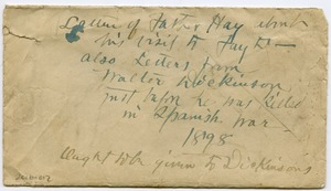Thumbnail of Envelope containing letters from Walter Dickinson