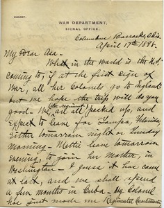 Thumbnail of Letter from Walter M. Dickinson to Asa Williams Dickinson