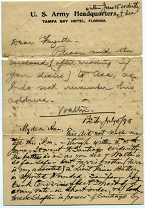 Thumbnail of Letter from Walter M. Dickinson to Marquis Fayette Dickinson